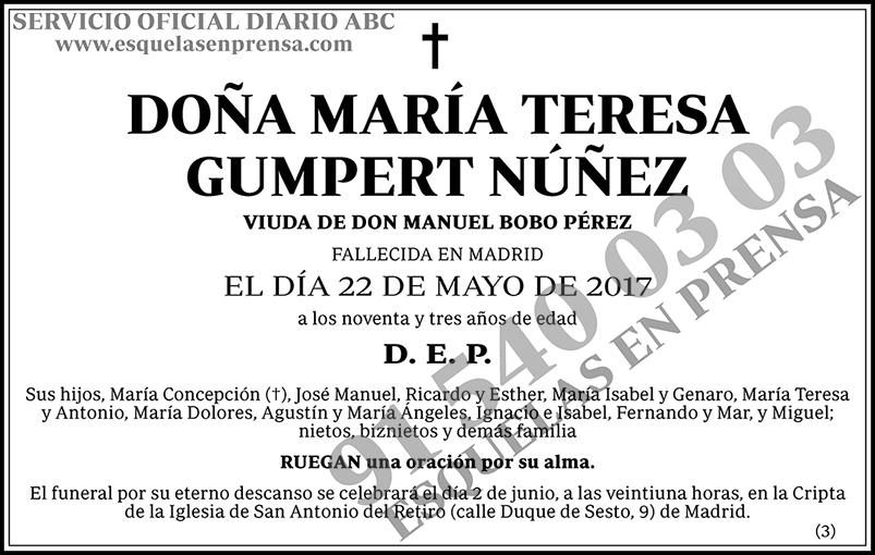 María Teresa Gumpert Núñez
